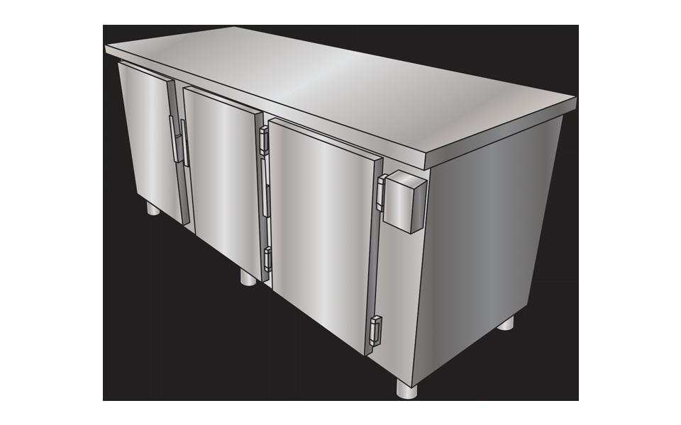 Ψυγείο Πάγκος Επαγγελματικό Ανοξείδωτο - Stock Inox