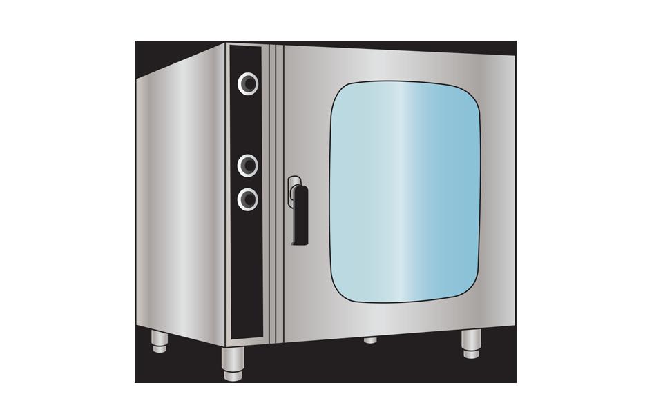 Φούρνος επαγγελματικός COMBI STEAM μαγειρικής - Εξοπλισμός Εστίασης Stock Inox