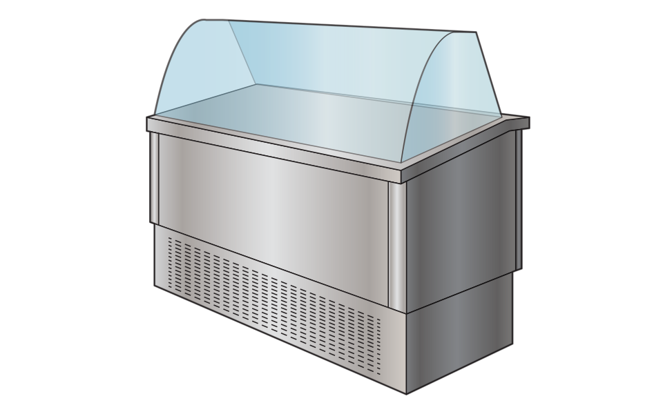Επαγγελματικό Ψυγείο Βιτρίνα - Εξοπλισμός εστίασης Stockinox