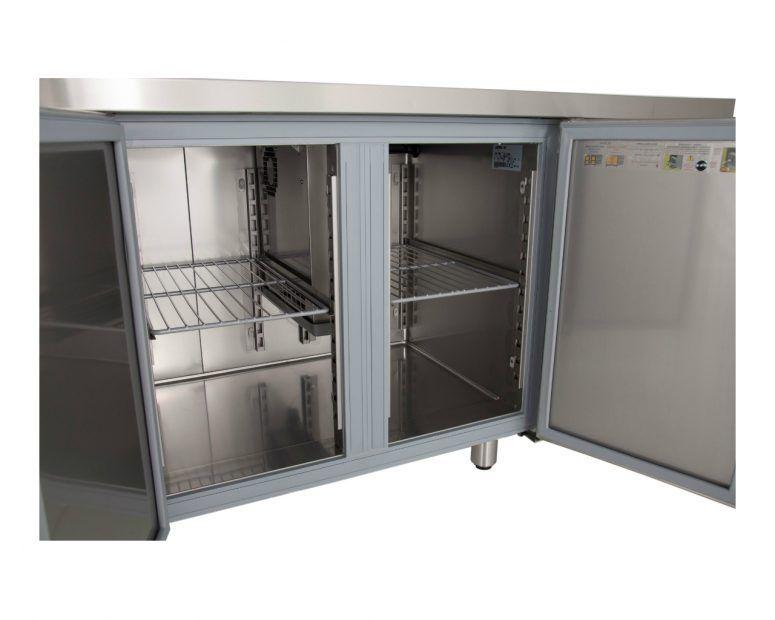 Επαγγελματικό Ψυγείο Πάγκος Inox με Μεγάλες Πόρτες Inomak