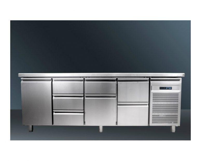 Επαγγελματικό Ψυγείο Πάγκος Inox Συρτάρια & Πόρτες