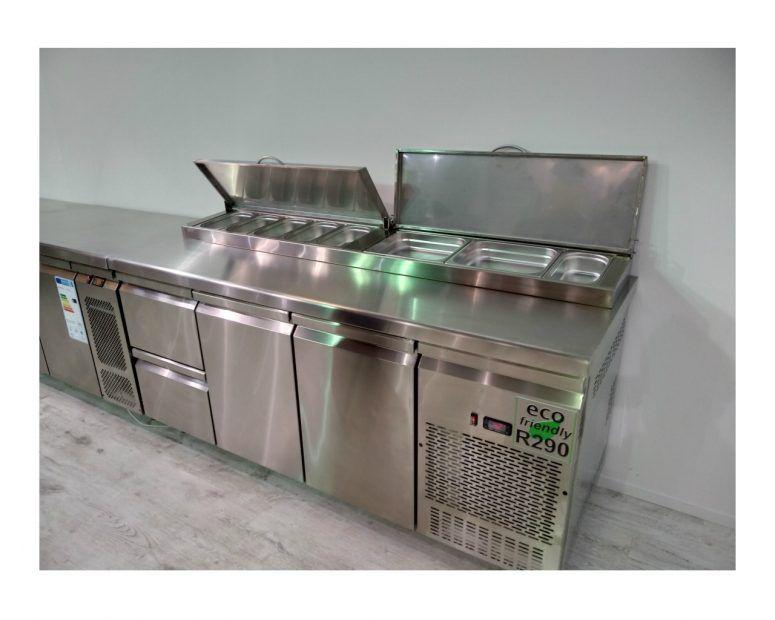 Ψυγείο Πάγκος Inox R290 Eco Friendly με Συρτάρια & Πόρτες