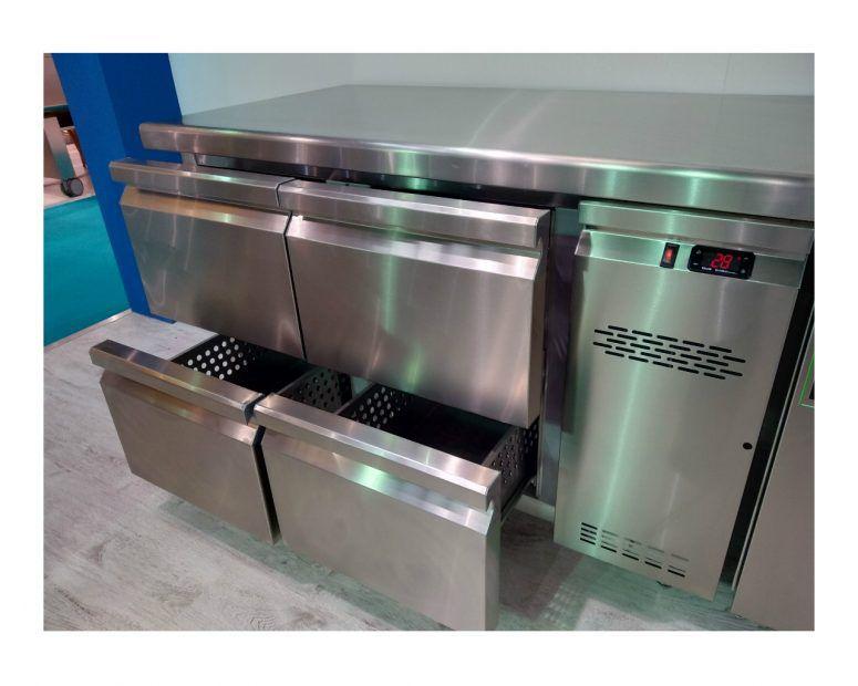 Ψυγείο Πάγκος Inox 4 συρτάρια - Εξοπλισμός Καταστημάτων