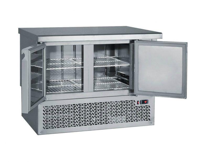 Ψυγείο Πάγκος Inox 2 πόρτες - μηχανή κάτω Bambasfrost