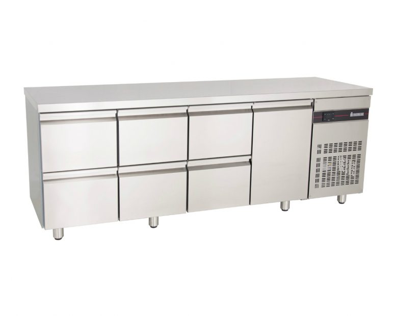 Ψυγείο Πάγκος Inox Inomak με συρτάρια