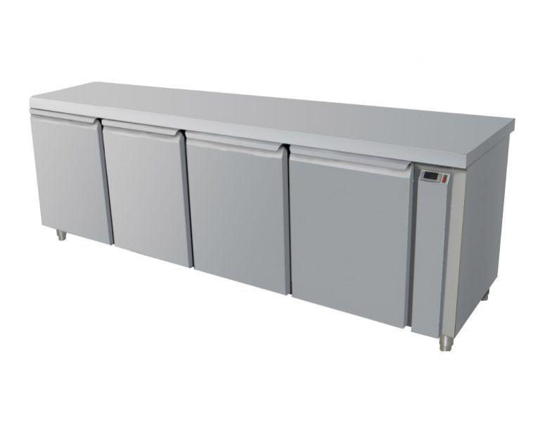 Ψυγείο Πάγκος Inox για σύνδεση με εξωτερική μηχανή