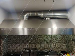Αεραγωγός σε Φούσκα Εξαερισμού Inox - Εξαερισμός Κουζίνας Επαγγελματικός Inox