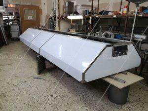 Κατασκευή Φούσκας Κέντρου Νο 1317, 500x160 στο Εργαστήριο μας - Επαγγελματικός Εξαερισμός Κουζίνας Inox