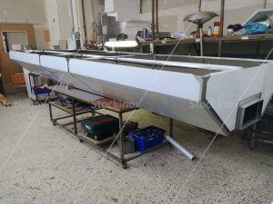 Κατασκευή Φούσκας Κέντρου Νο 1320, 500x160 στο Εργαστήριο μας - Επαγγελματικός Εξαερισμός Κουζίνας Inox