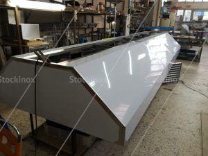 Κατασκευή Φούσκας Κέντρου Νο 1316, 500x160 στο Εργαστήριο μας - Επαγγελματικός Εξαερισμός Κουζίνας Inox