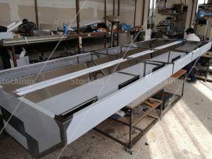 Κατασκευή Φούσκας Κέντρου Νο 1322, 500x160 στο Εργαστήριο μας - Επαγγελματικός Εξαερισμός Κουζίνας Inox