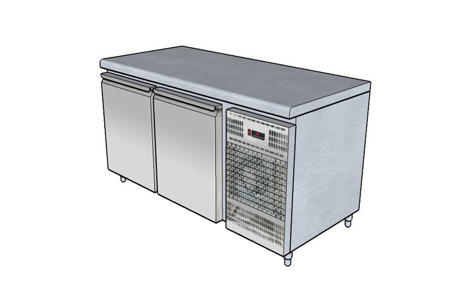 Ψυγείο Πάγκος Επαγγελματικό Inox - Επαγγελματικές Συσκευές Τροφίμων