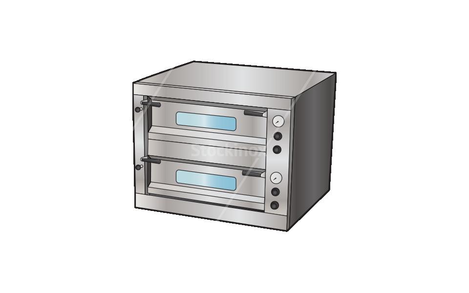 Φούρνος Πίτσας Επαγγελματικός Ταμπανωτός με Πυρόπλακα - Εξοπλισμός Εστίασης Stockinox